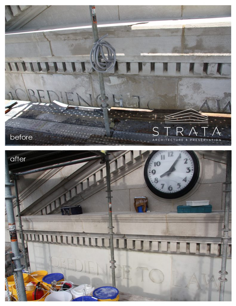 Blog strata architecture preservation a few years ago we had the opportunity to work on the ray county courthouse our work included repairs to the limestone entablature sciox Images